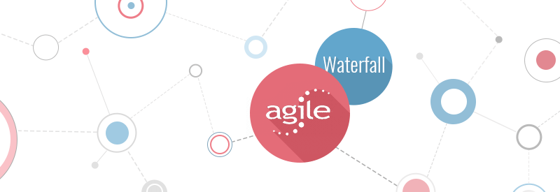 'Agile vs Waterfall Development model' post illustration