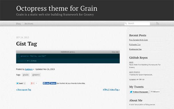 Grain Octopress Theme